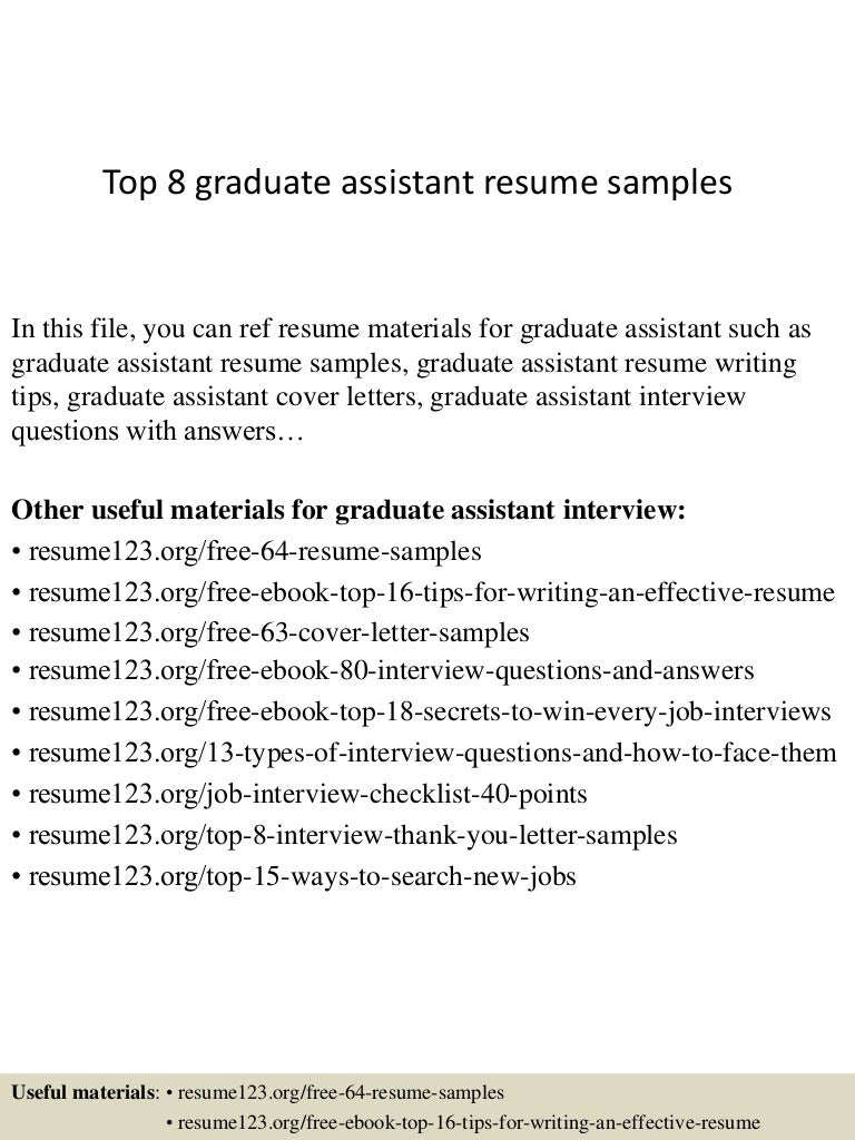 graduate assistant cover letter samples