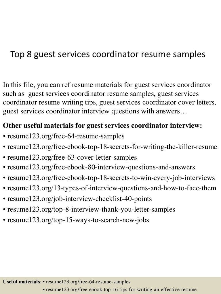 concierge resume sample valet parking resume sample retail sales sample cover letter resume - Guest Services Cover Letter