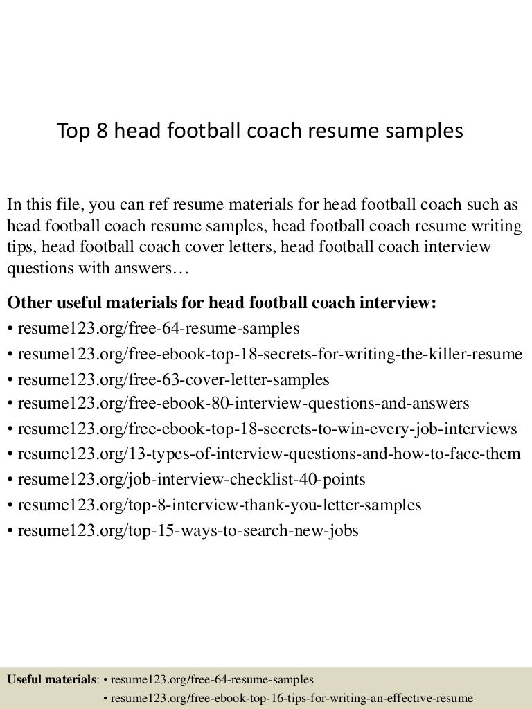 top8headfootballcoachresumesamples 150601102015 lva1 app6892 thumbnail 4jpgcb1433154061 - Sample Coaching Cover Letter