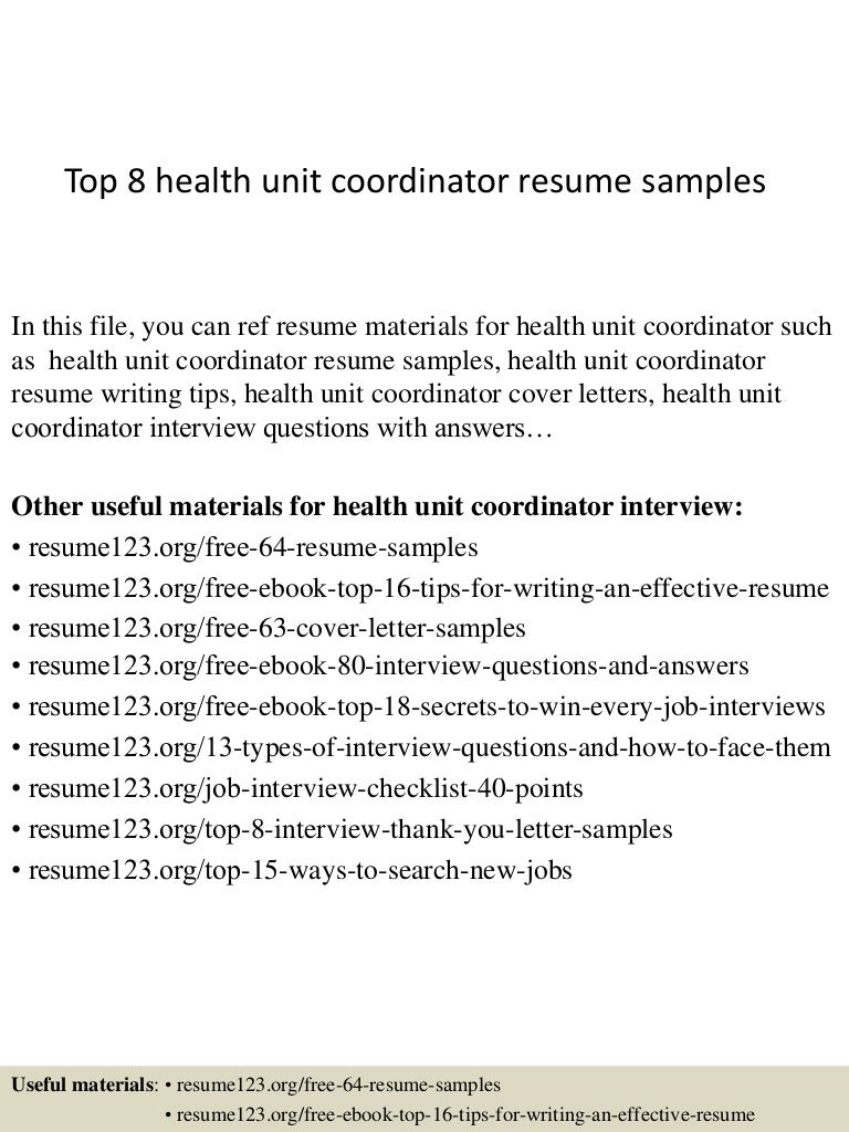 deployment specialist cover letter free memo template download top8healthunitcoordinatorresumesamples 150331221701 conversion gate01 thumbnail 4 deployment
