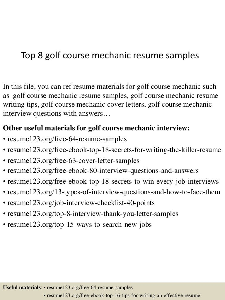 top 8 heavy duty diesel mechanic resume samples
