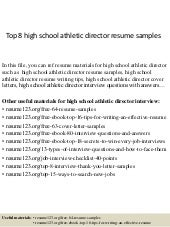 Michael Hooven Athletic Director Resume