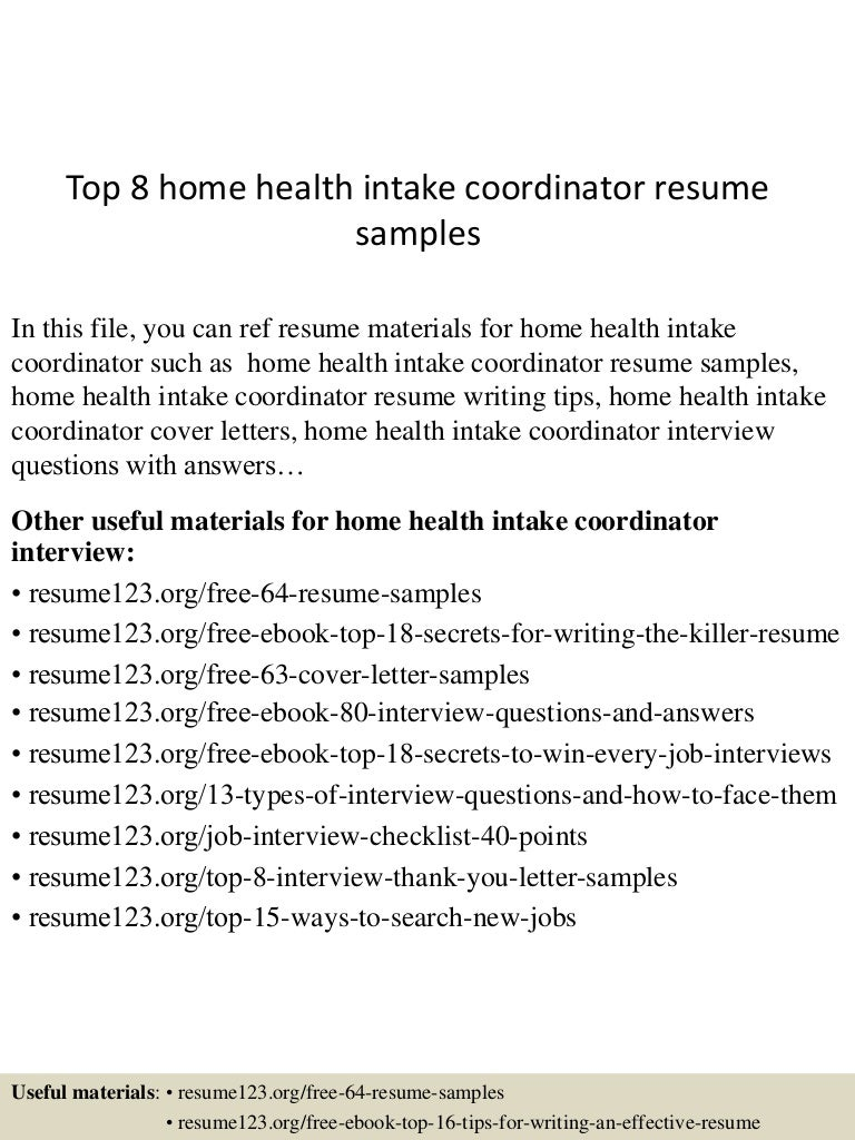 resume target intake officer sample resume target executive team leader cover top homehealthintakecoordinatorresumesamples lva app thumbnail intake