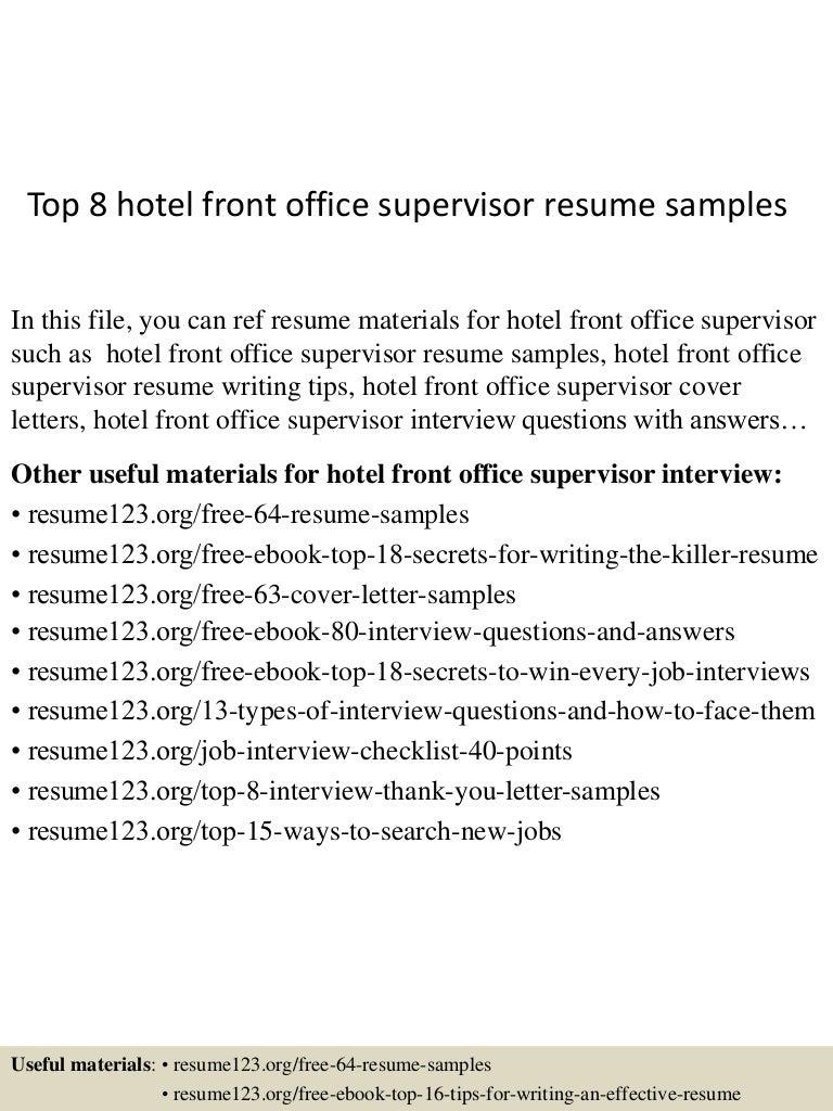 tophotelfrontofficesupervisorresumesamples lva app thumbnail jpg cb