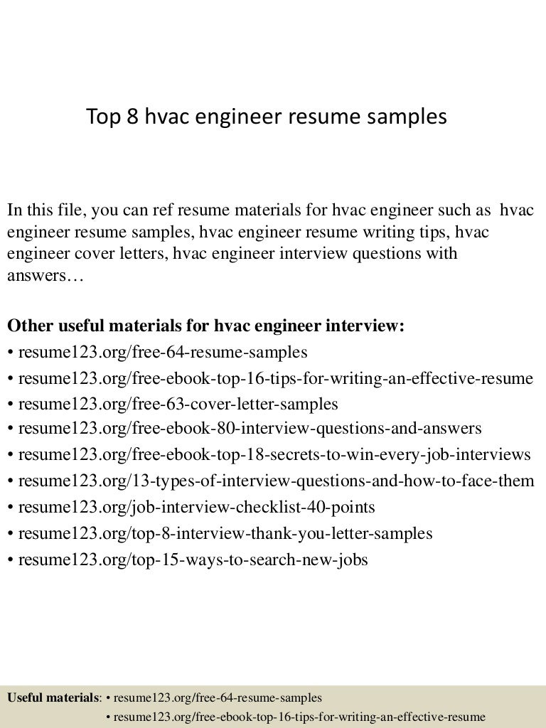 resume Hvac Site Engineer Resume top8hvacengineerresumesamples 150402023441 conversion gate01 thumbnail 4 jpgcb1427960122