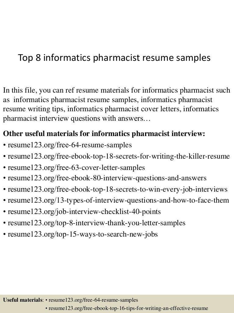 Geriatric Pharmacist Sample Resume sample of resume letter for job – Retail Pharmacist Cover Letter