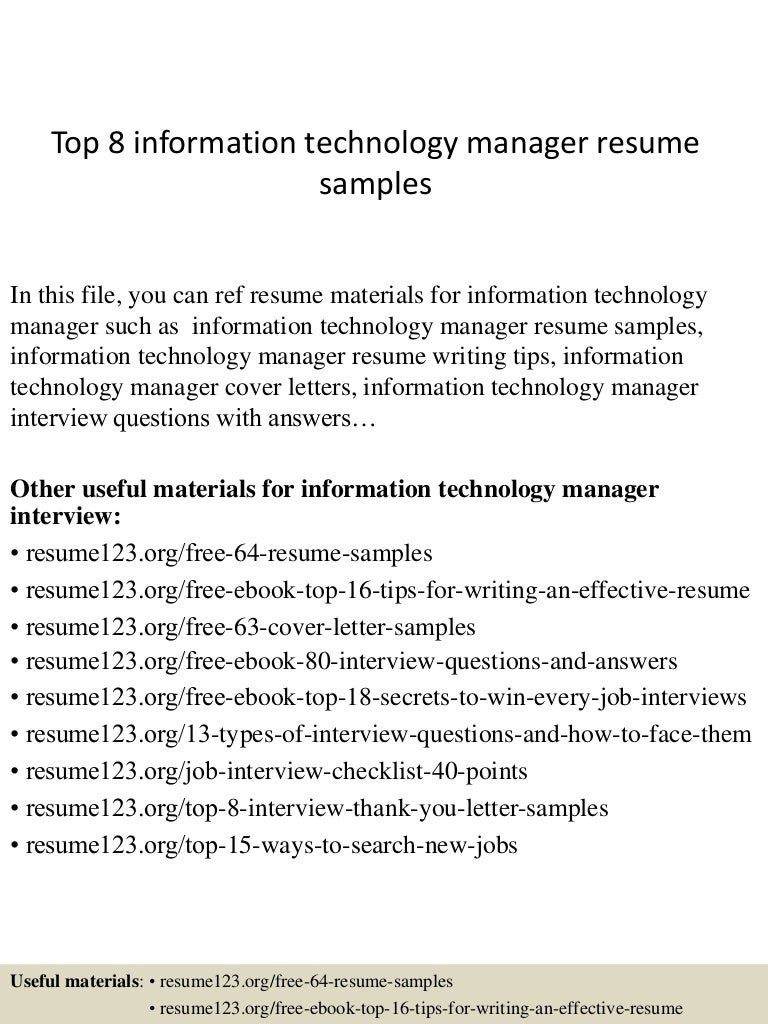 SlideShare  Information Technology Resume