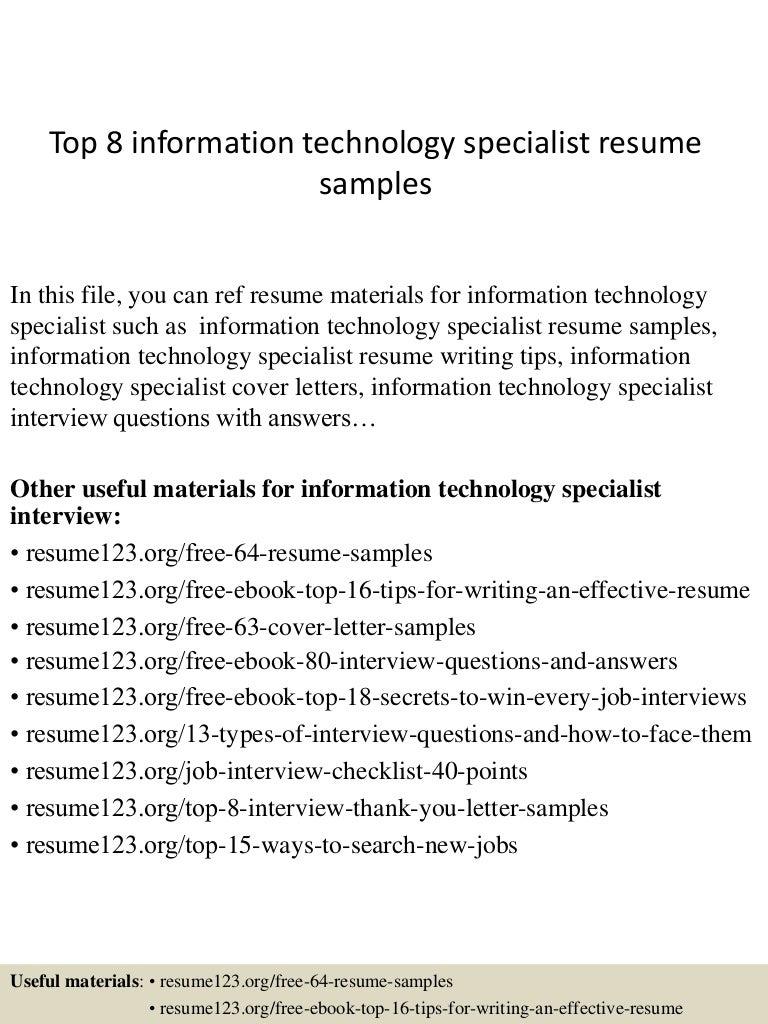 information technology specialist resume samples visualcv resume visualcv extraordinary resume information technology brefash