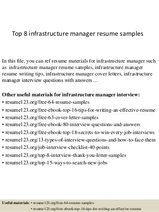 Manager It Infrastructure Infrastructure Project Manager Resume Jobs Great Pictures
