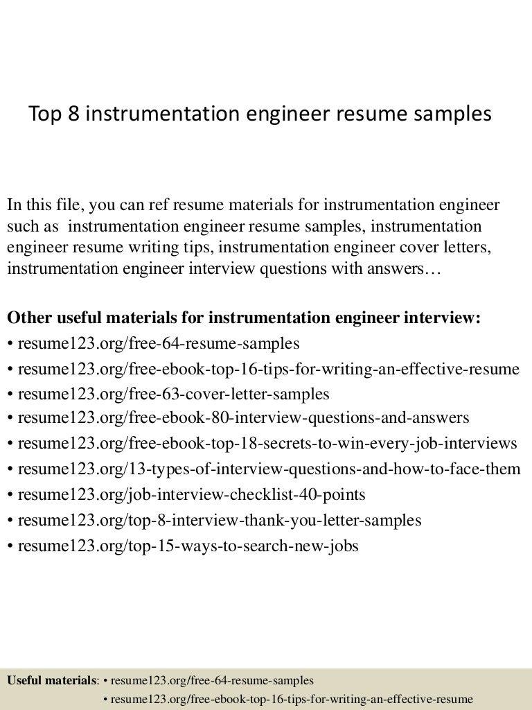 hvac commissioning engineer sample resume lease template microsoft top8instrumentationengineerresumesamples 150407031441 conversion gate01 thumbnail 4 hvac - Hvac Resume Samples