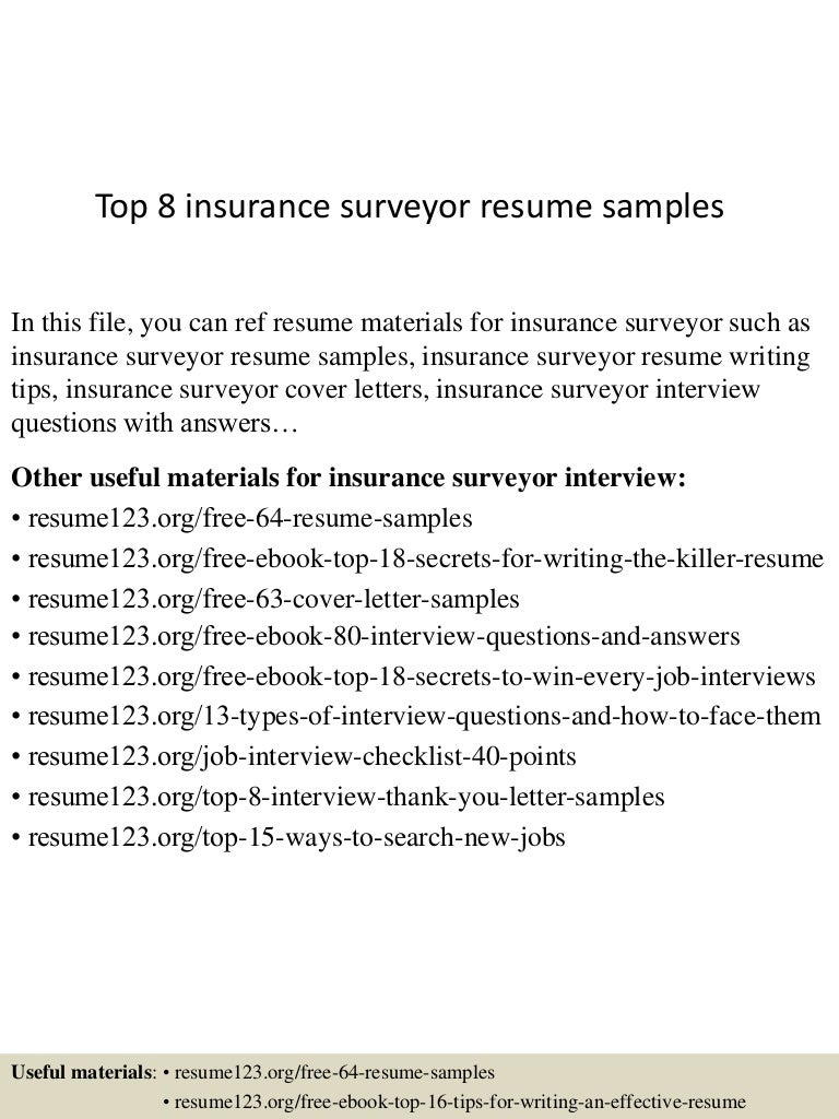 top8insurancesurveyorresumesamples 150730023644 lva1 app6891 thumbnail 4 jpg cb 1438223854