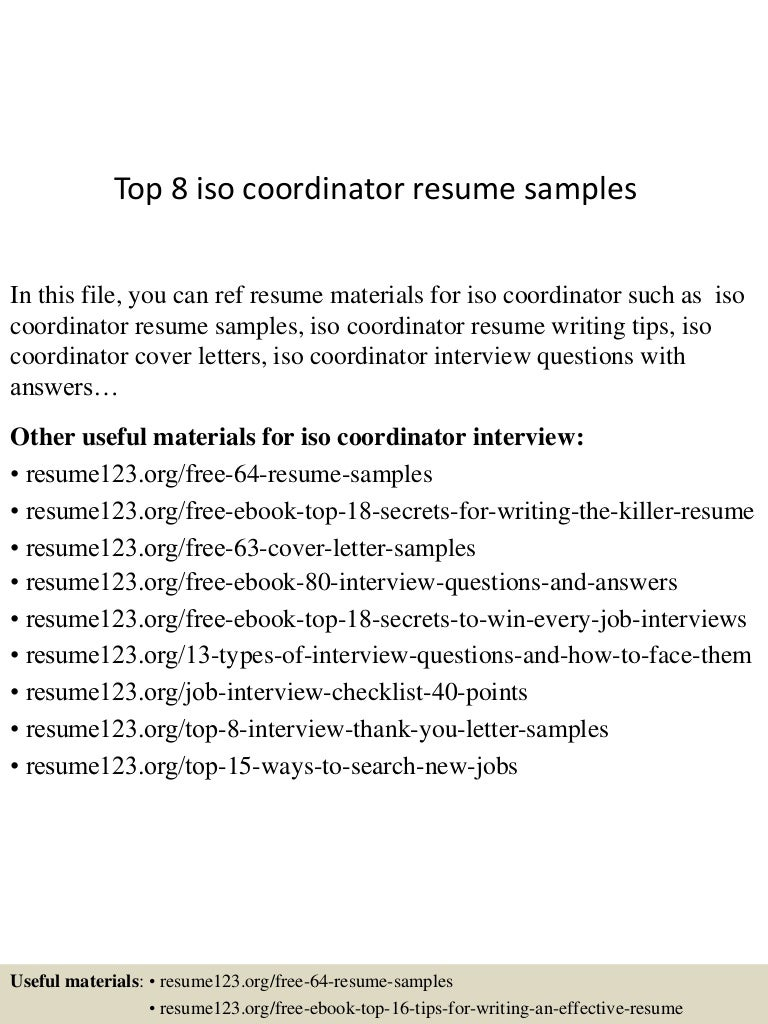 Iso Coordinator Cover Letter warehouse driver cover letter