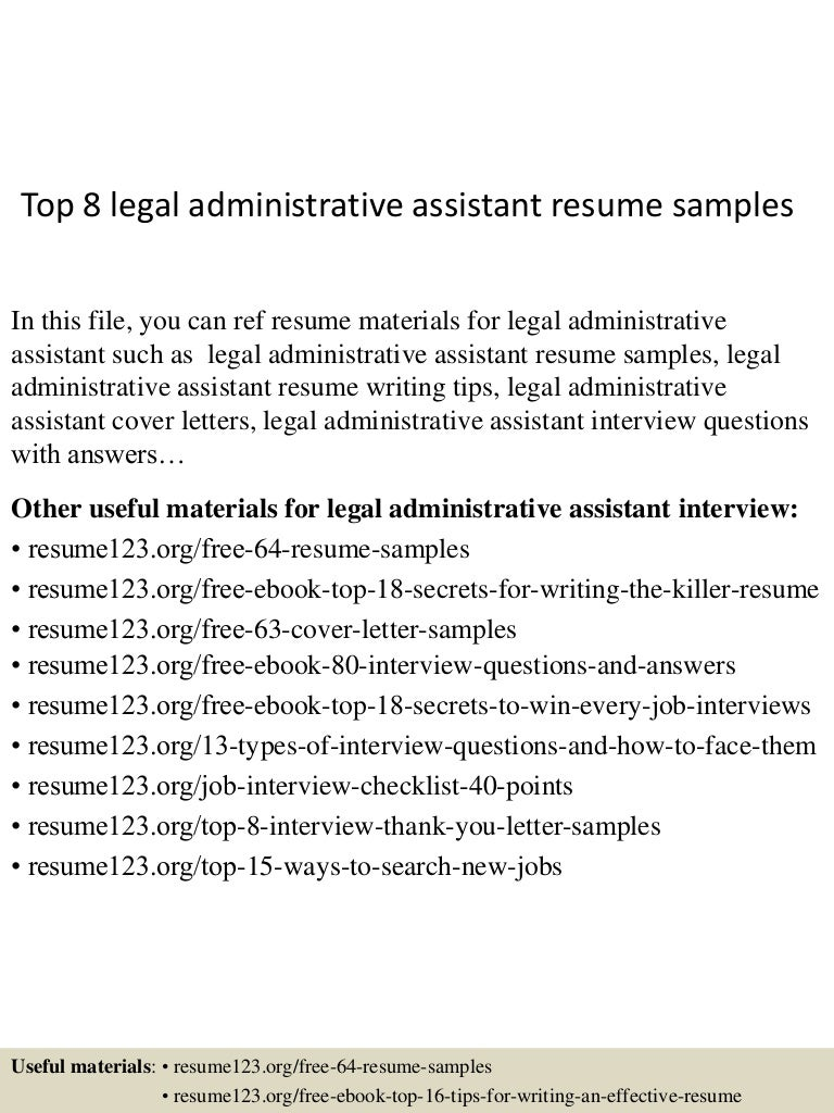 top8legaladministrativeassistantresumesamples150425024435conversiongate02thumbnail4jpgcb 1429947919 – Legal Administrative Assistant Cover Letter