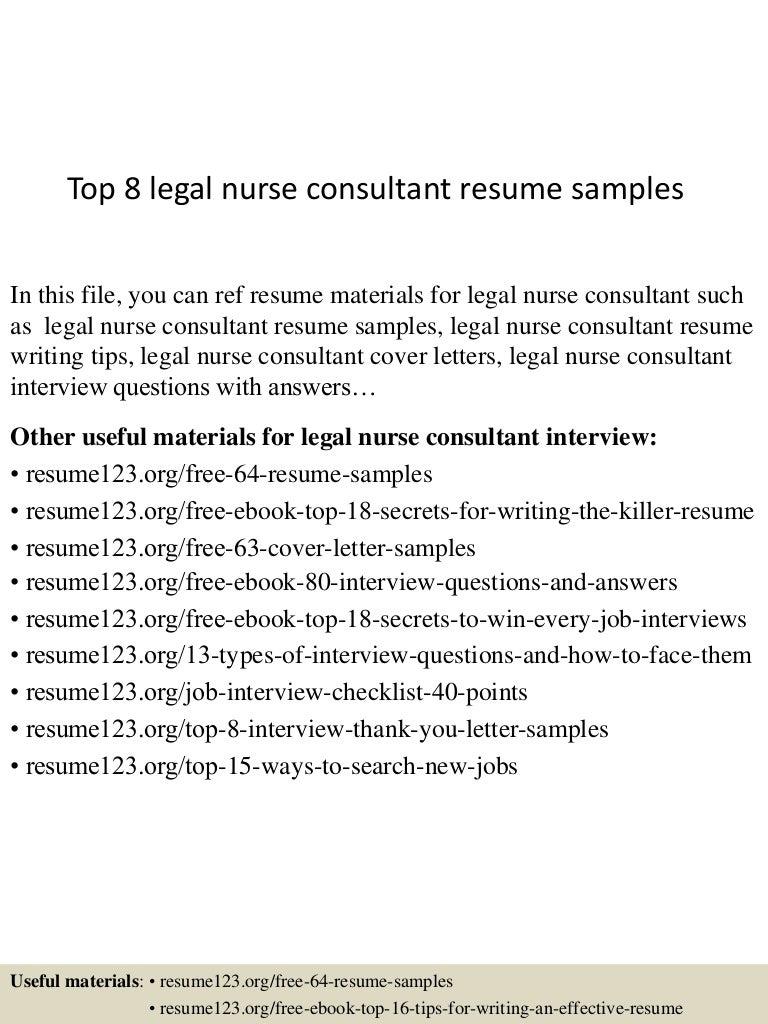 Sample cv legal nurse consultant