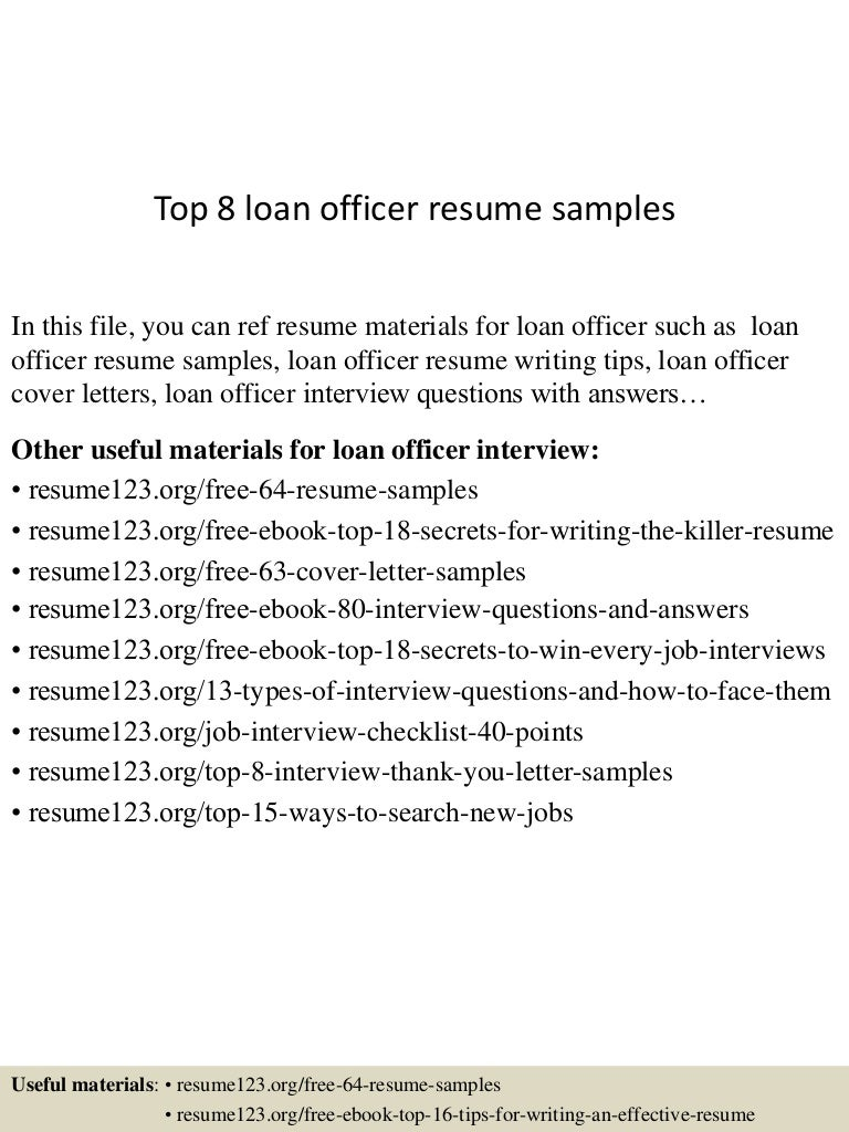Example Loan Servicing Specialist Resume Free Sample SlideShare Loan  Servicer Resume Sample