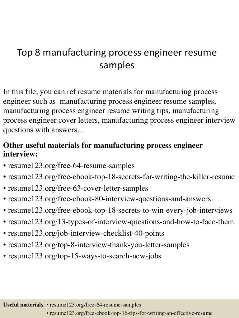 process engineer resume sample university essay examples top8manufacturingprocessengineerresumesamples 150520133637 lva1 app6891 thumbnail 4 top 8 manufacturing process engineer resume samples