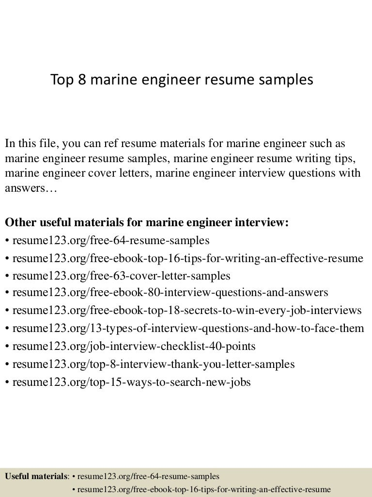 top8marineengineerresumesamples 150410090042 conversion gate01 thumbnail 4 jpg cb 1428674486