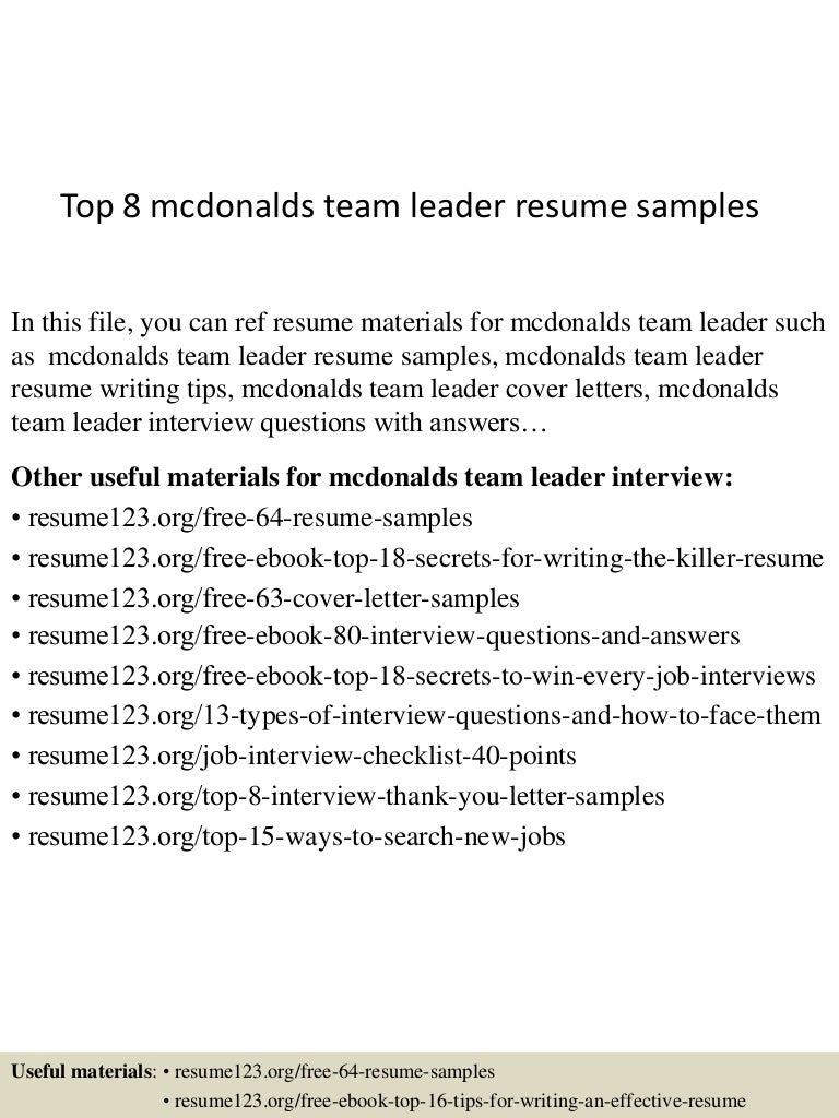 mcdonalds resume sample resume typing help purchasing manager job