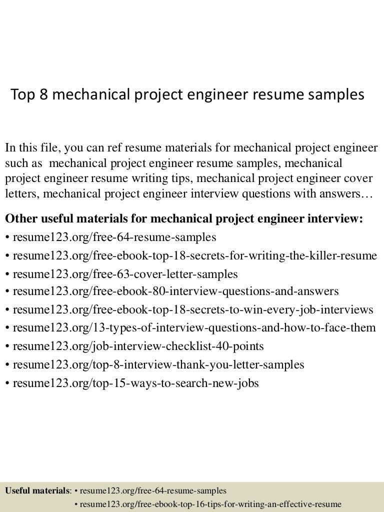 Best Mechanical Engineering Resume Samples Vosvetenet – Mechanical Engineer Resume Example