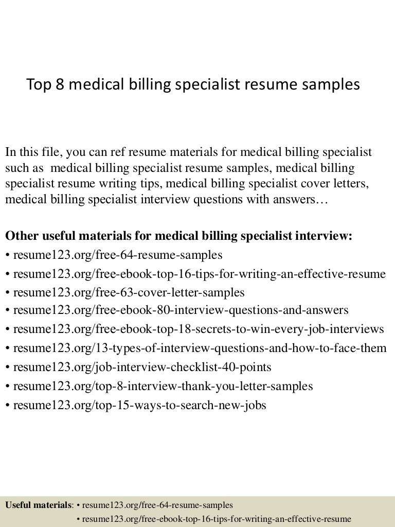 SlideShare  Billing Specialist Resume