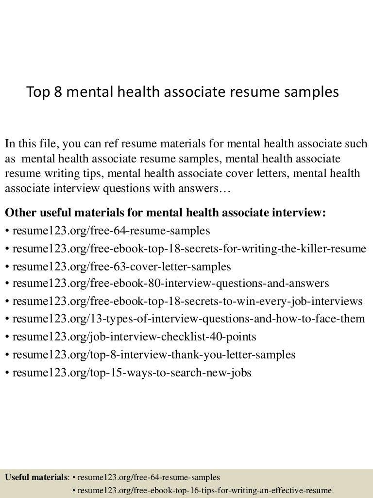 mental health nurse resumes