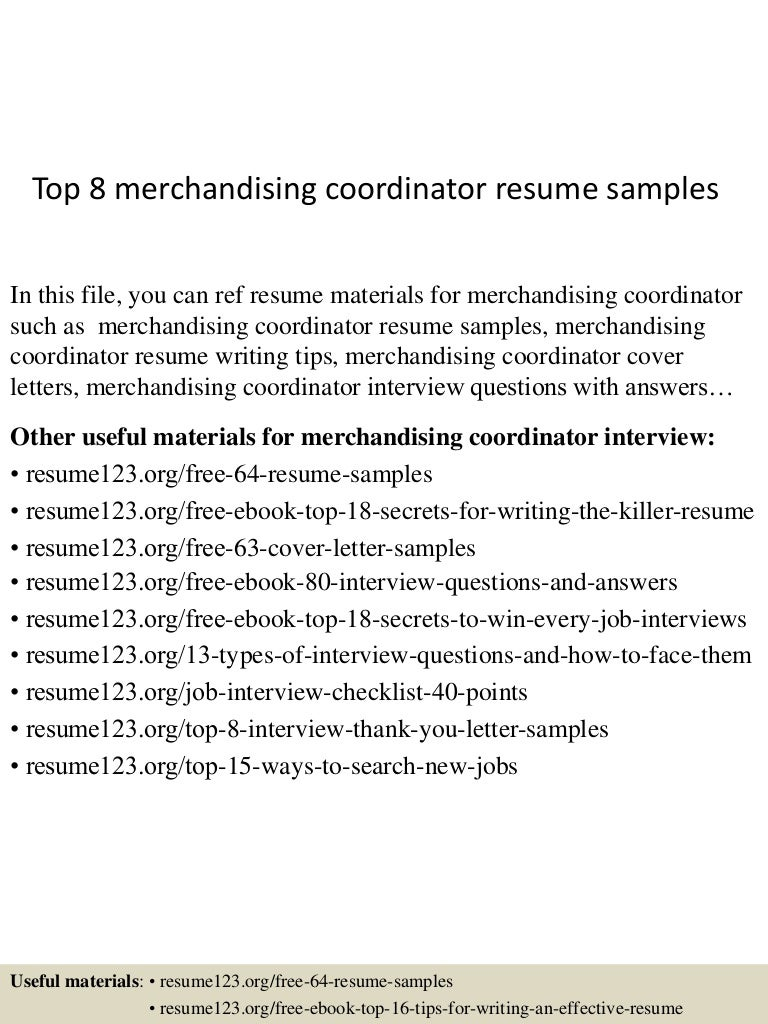 merchandise coordinator cover letter Template