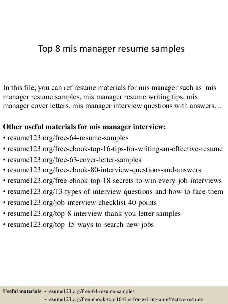 top8mismanagerresumesamples150408062723conversiongate01thumbnail4jpgcb 1428492486 – Mis Resume Sample