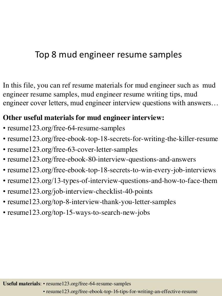 drill rig operator sample resume house rent slip format top8mudengineerresumesamples 150520133643 lva1 app6892 thumbnail 4 drill - Drilling Engineer Sample Resume