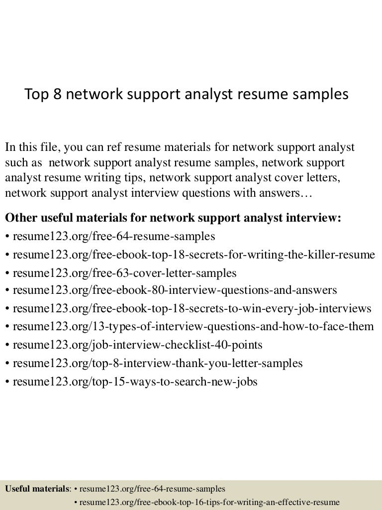 network support resumes