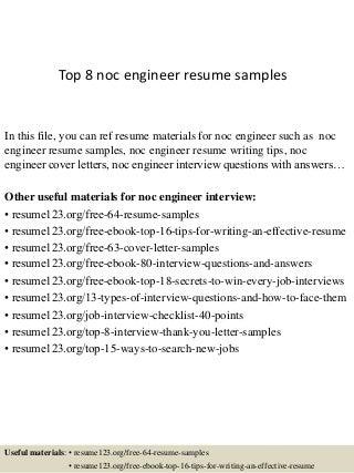 noc engineer sample resume noc engineer cv sample myperfectcv