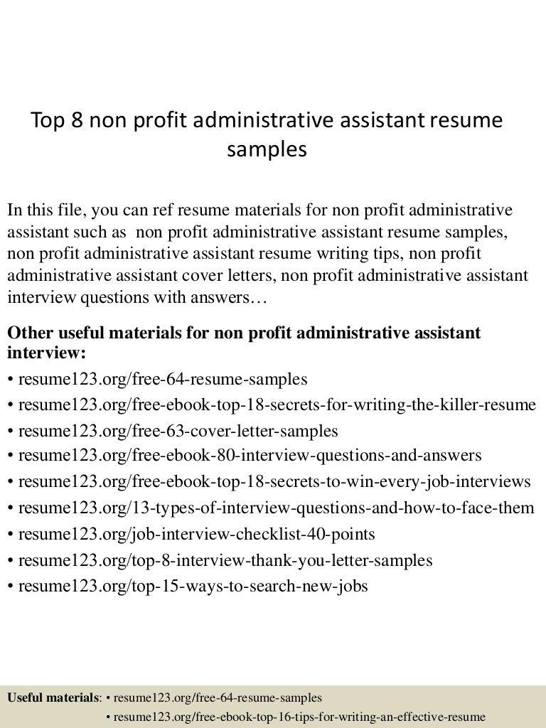 examples administrative assistant resume assistant administrative examples administrative assistant resume topnonprofitadministrativeassistantresumesamples lva app thumbnail