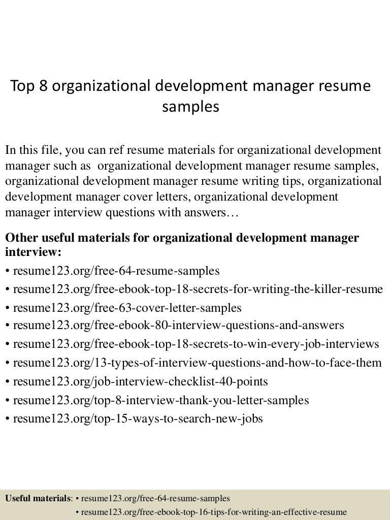 Top8organizationaldevelopmentmanagerresumesamples 150521071052 Lva1 App6892 Thumbnail 4cb1432192303