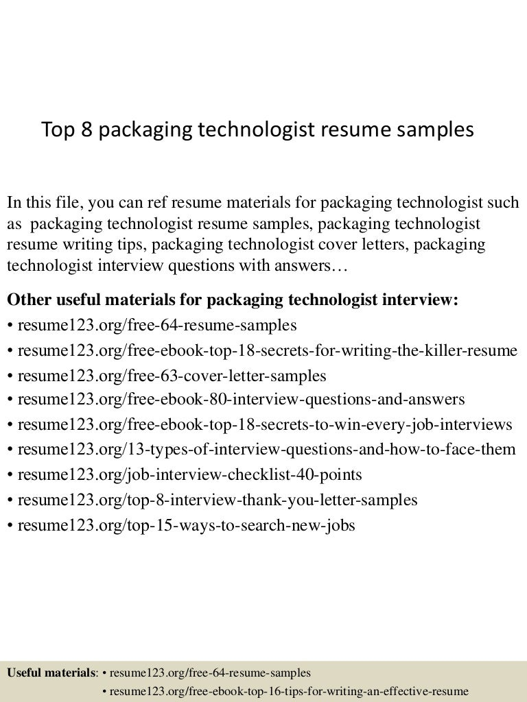 Best Packaging Technician Cover Letter Photos - Triamterene.us ...