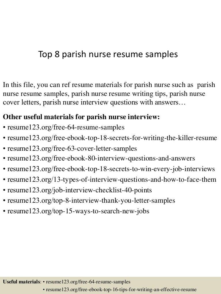 Parish nurse cover letter