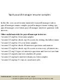 top 8 payroll manager resume samples. Resume Example. Resume CV Cover Letter