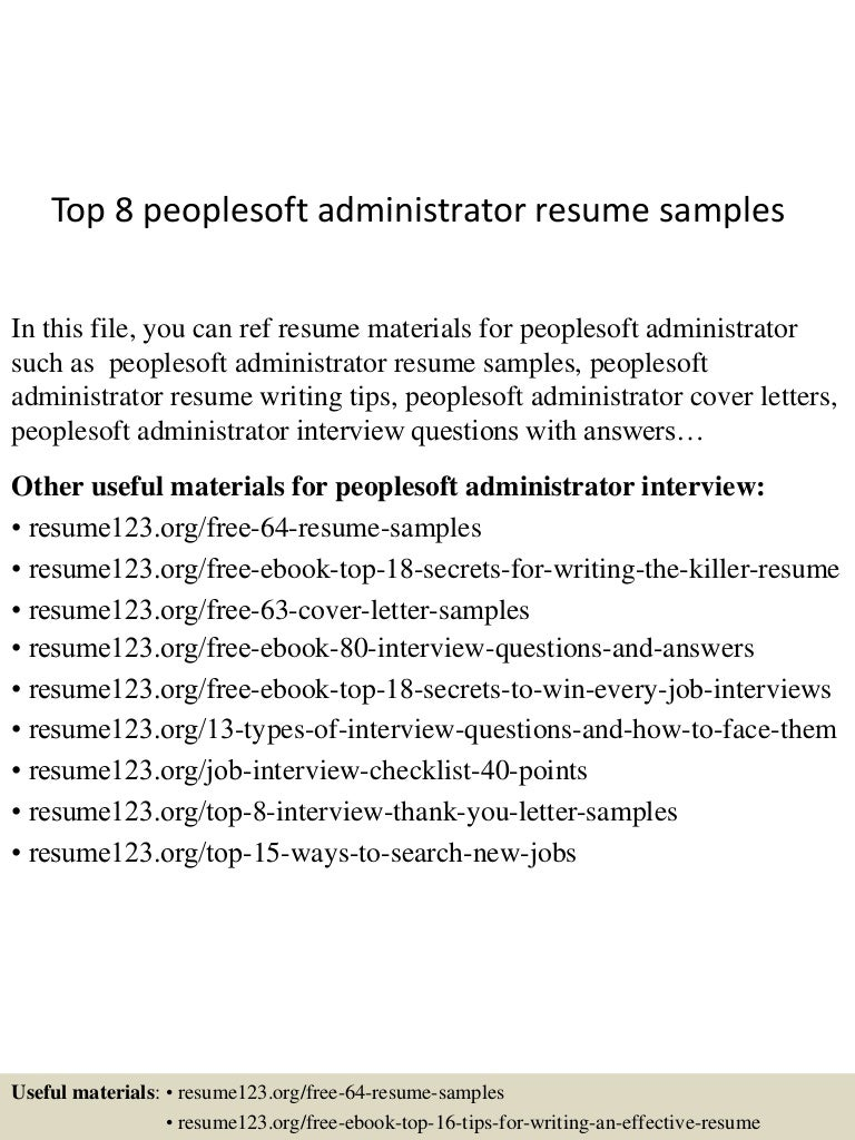 clearcase administration sample resume free legal agreement top8peoplesoftadministratorresumesamples 150606082559 lva1 app6892 thumbnail 4 clearcase - As400 Administration Sample Resume