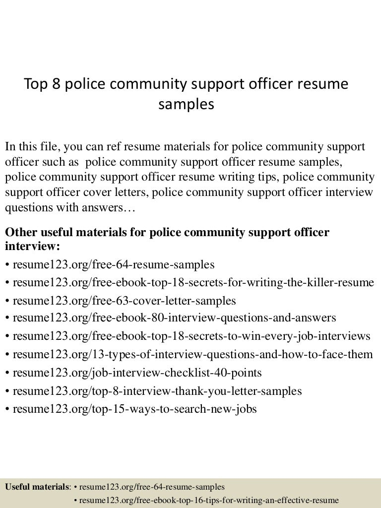 cover letter resume paralegal sample paralegal resume with top8policecommunitysupportofficerresumesamples 150730074329 lva1 app6892 thumbnail 4 cover - Police Chief Cover Letter