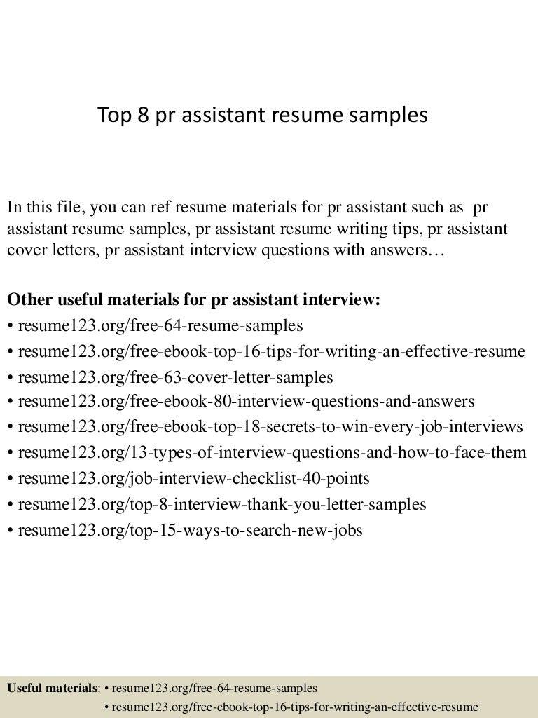 topprassistantresumesamples conversion gate thumbnail jpg cb - Fashion Pr Assistant Sample Resume