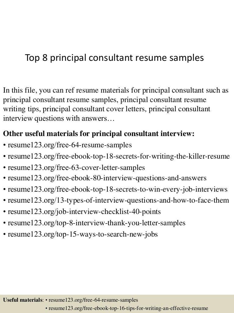 principal resume samples sample of excellent resume thumbnail 4jpg cb 1431923824 top8principalconsultantresumesamples 150518043600 lva1 app6892 thumbnail 4 top 8 principal consultant resume samples