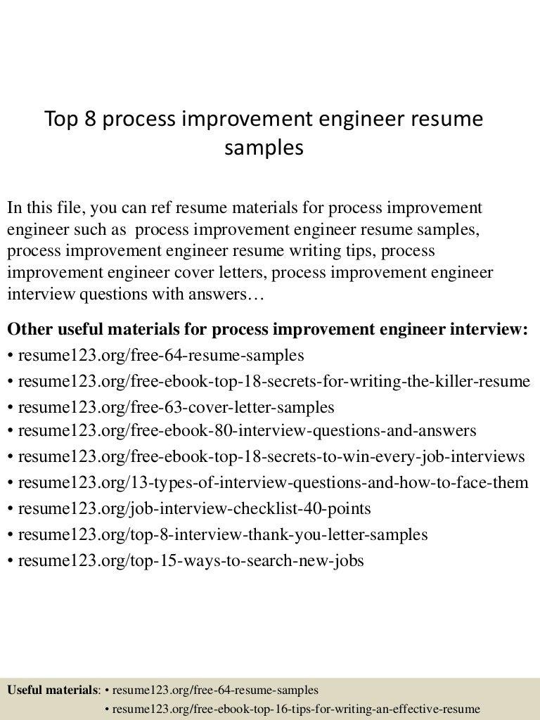 process engineer sample resume topprocessimprovementengineerresumesamples lva app thumbnail - Process Validation Engineer Sample Resume