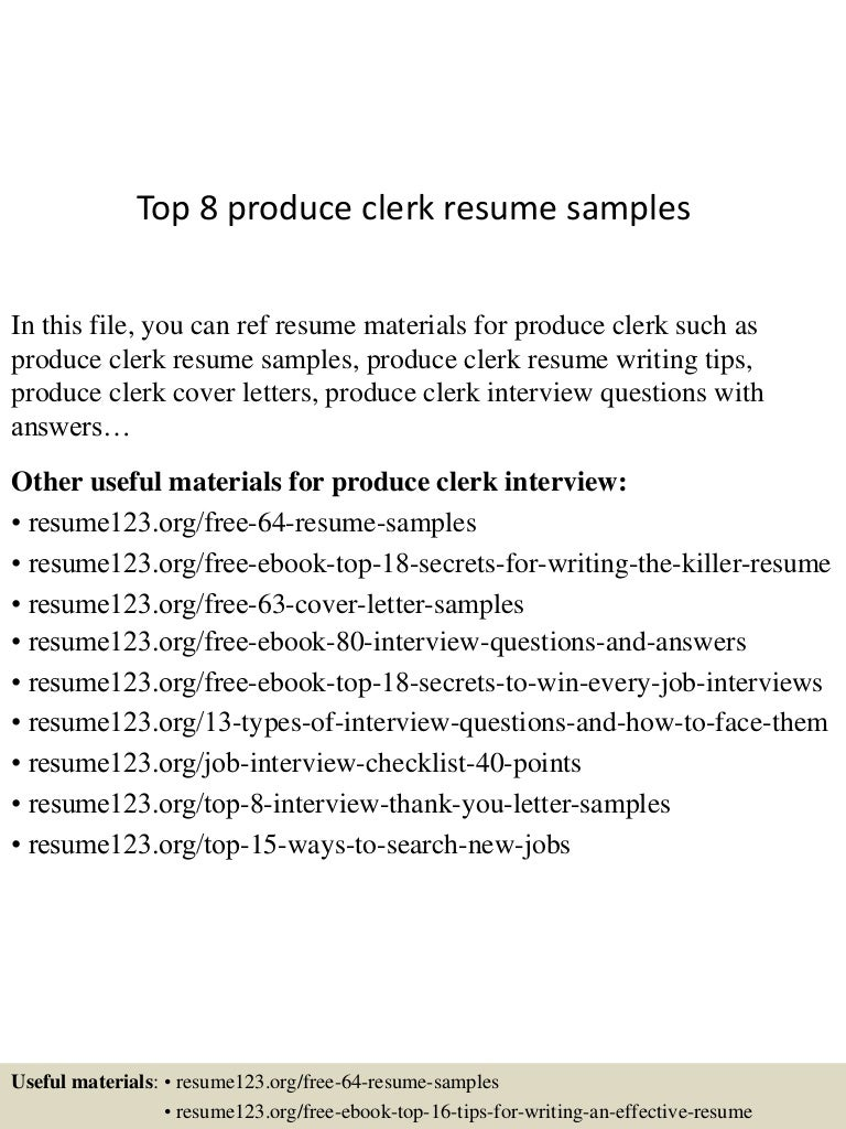campsite manager cover letter library aide sample resume top8produceclerkresumesamples 150426010521 conversion gate02 thumbnail 4 campsite manager - Campground Manager