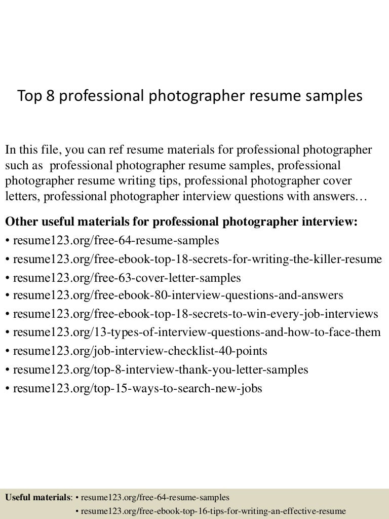 topprofessionalphotographerresumesamples lva app thumbnail jpg cb