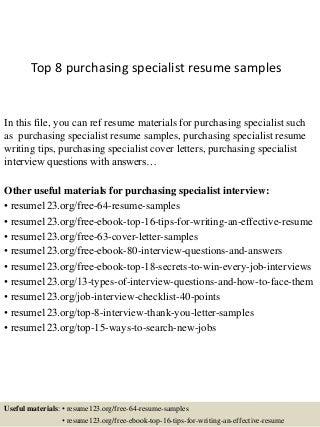 Purchasing Specialist   Linkedin