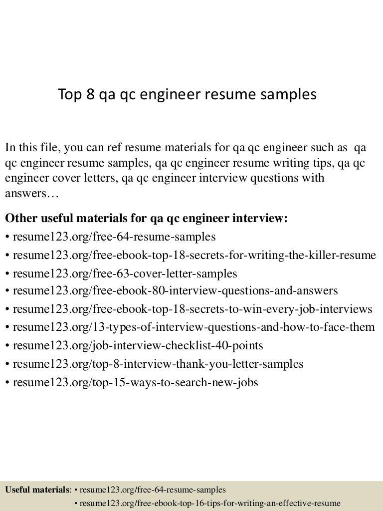 sample resume for qa engineer - Black.dgfitness.co