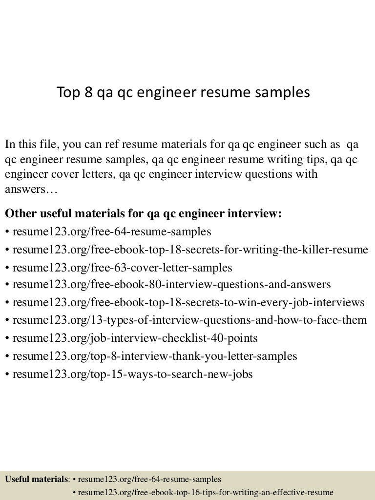 topqaqcengineerresumesamples conversion gate thumbnail jpg cb
