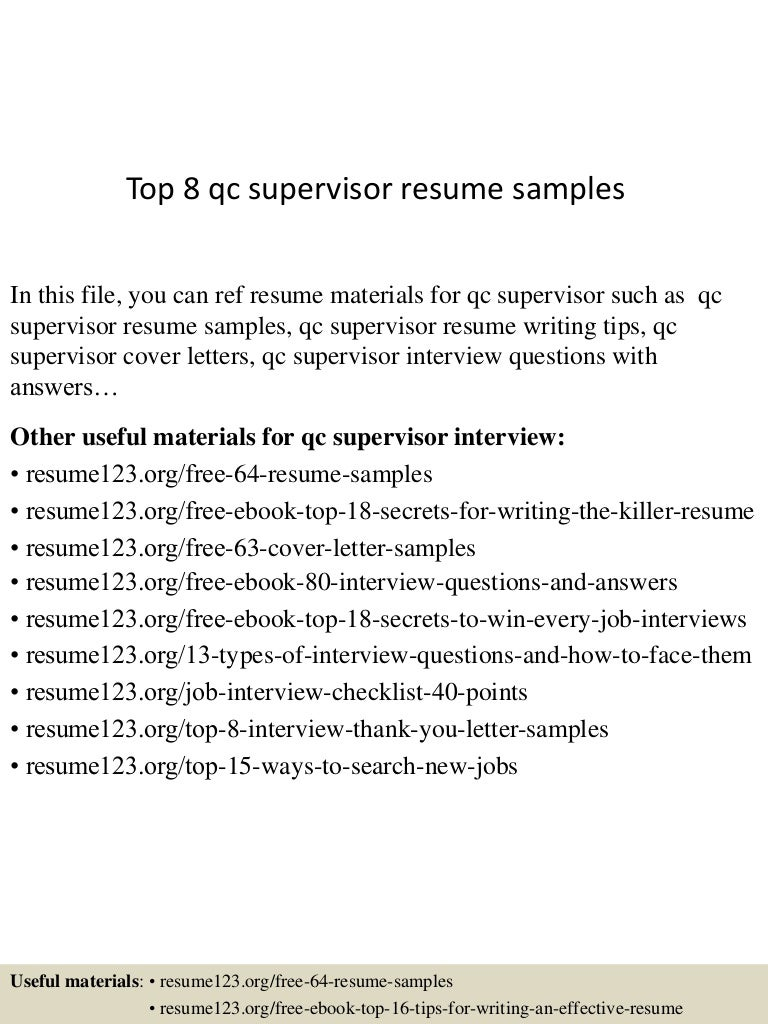 top8qcsupervisorresumesamples150525014803lva1app6892thumbnail4jpgcb 1432518531 – Piping Supervisor Resume