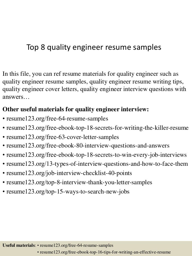 cover letter sample quality control engineer asbestos inspector top8qualityengineerresumesamples 150426011404 conversion gate01 thumbnail 4 cover - Satellite Engineer Sample Resume