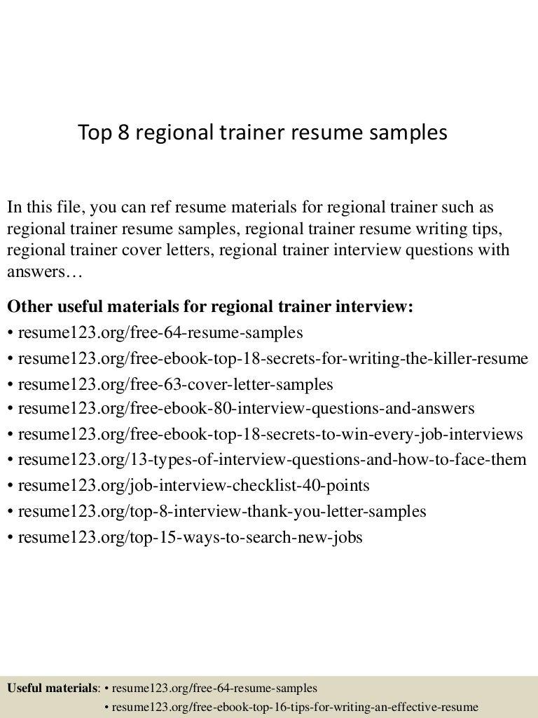 epic trainer sample resume semiconductor engineer sample resume top8regionaltrainerresumesamples 150528233558 lva1 app6892 thumbnail 4 epic trainer - Semiconductor Engineer Sample Resume
