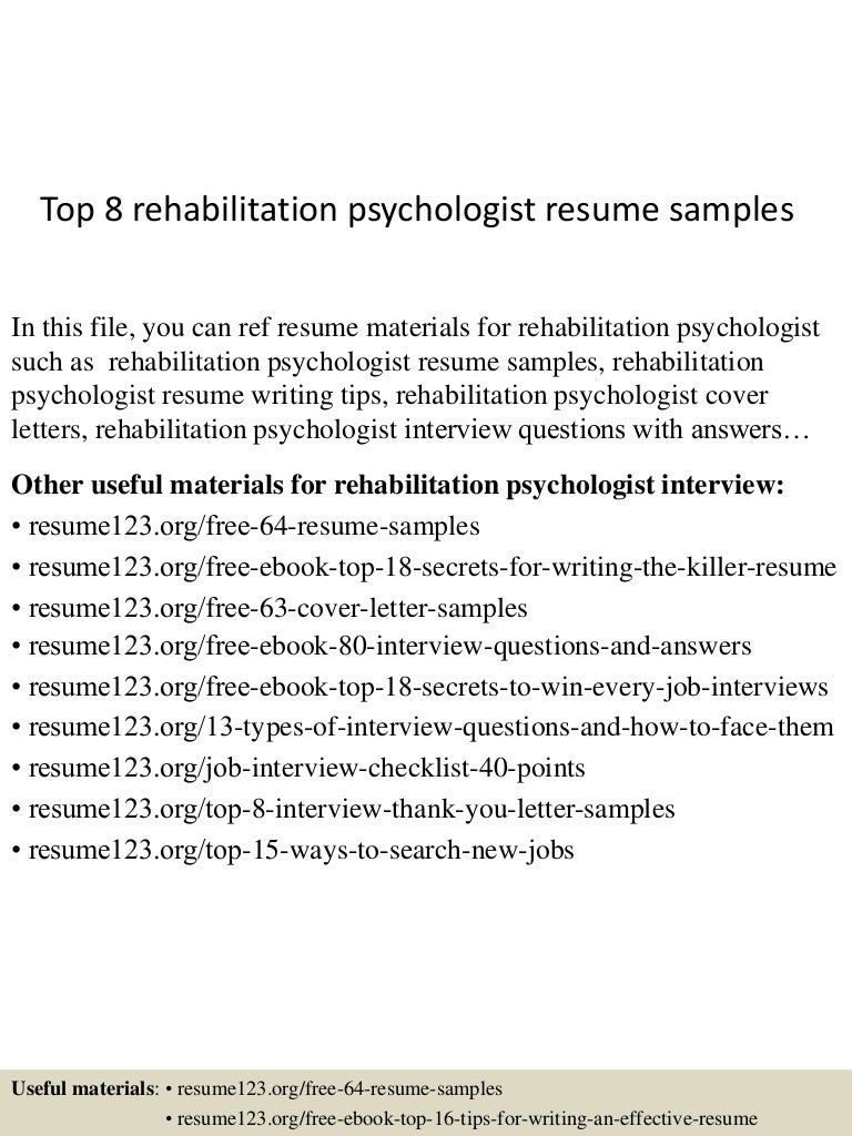 top8rehabilitationpsychologistresumesamples 150730080857 lva1 app6892 thumbnail 4jpgcb1438243788