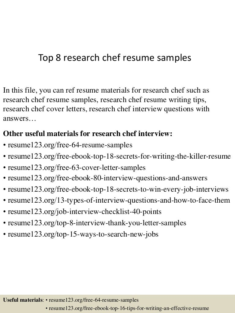 Research Chef Cover Letter interpretive analysis essay example ...